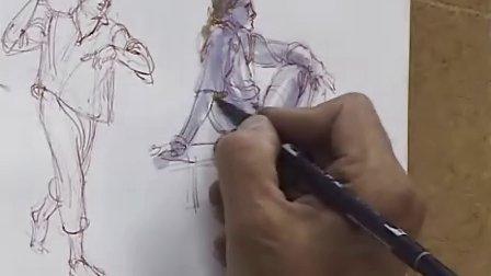 人体素描之速写