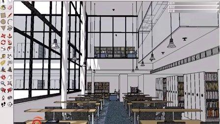 设置图书馆主要材质创建基本光效