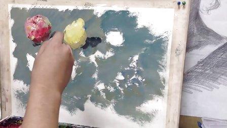 朱传奇画室 130911张德静老师色彩示范——水果