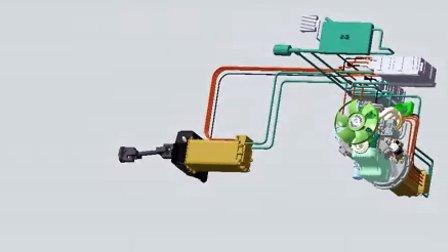 西门子ELFA®纯电动汽车12米一下混合动力(单电机)结构图