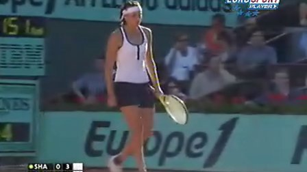 2009法国网球公开赛女单R3 莎拉波娃VS舍芙多娃
