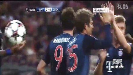 罗本阿拉巴传射曼祖头槌 拜仁3-0