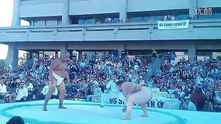 相扑摔跤比赛!小个完美得胜!【谷姐特搞队】