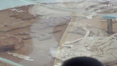 【拍客】长春市1200斤巨无霸月饼迎中秋节