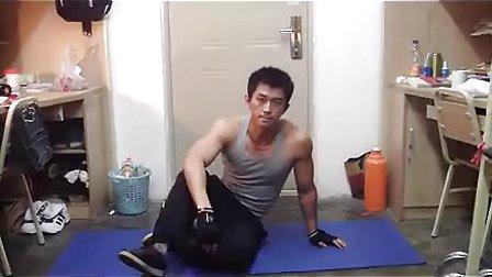 宿舍健身攻略腹肌篇3 腹外斜肌的训练_标清