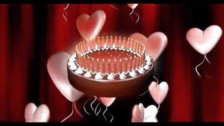 3D生日蛋糕蜡烛视频素材
