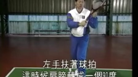 教你打网球 反手拍着地球打法