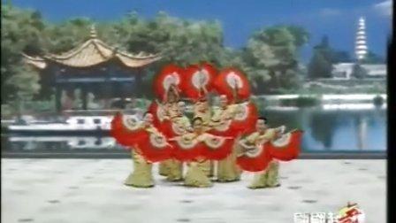 扇子舞 经典双扇舞 放风筝
