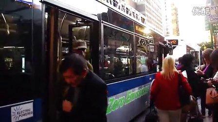 碉堡了,比亚迪电动大巴公交车在美国纽约上路运营了