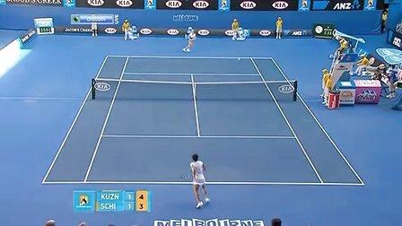 2011澳大利亚网球公开赛女单R4 库兹涅佐娃VS斯齐亚沃尼 (自制HL)