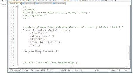 兄弟连php视频教程CI框架10.CI中的AR(连惯操作)php培训