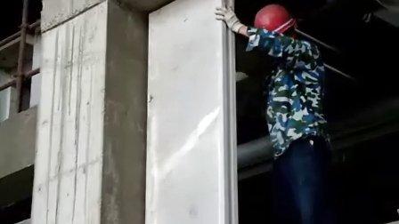 中国建筑装饰协会、天津市环境装饰协会领导视察我公司工地(隔墙板安装过程)