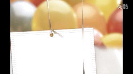 1 - 会声会影模板展示:视频气球模板