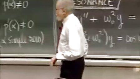 [微分方程:特殊案例解读:.共振].Lecture.14