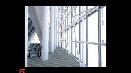 办公楼电梯过厅材质设置方法