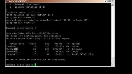Linux系统管理下的分区格式化及挂载