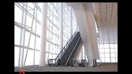 设置办公楼电梯过厅渲染参数