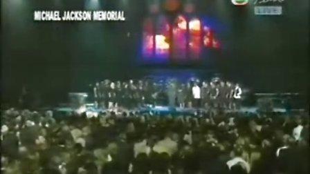 [宁博] MJ杰克逊追思会现场 杰克逊灵柩步入会场