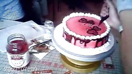 DIY蛋糕梁祝双蝶 天津大学生创业加盟连锁 甜蜜蜜DIY蛋糕店烘焙工坊顾客作品