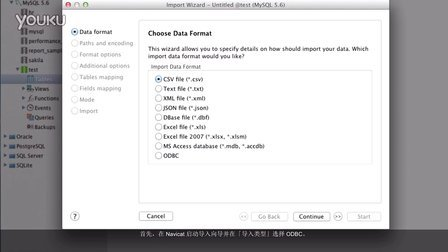 如何在 Navicat导入 ODBC 数据到你的数据库?(Mac OS X)
