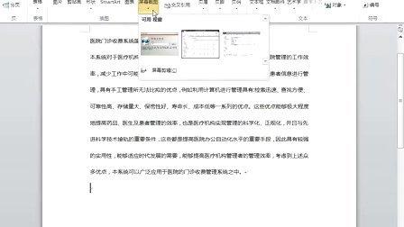 021_在文档中插入屏幕剪辑
