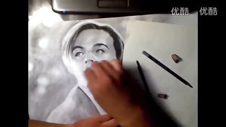 素描 泰坦尼克号绘画素描头像教学视频