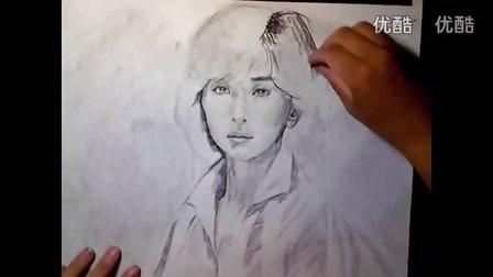 素描 大场久美子素描头像教学视频