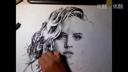 素描头像教学视频艾玛沃特森绘画