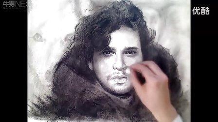 牛人超赞素描最酷型男肖像素描头像教学视频