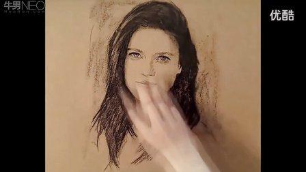 好牛,诠释画笔上的艺术素描头像教学视频