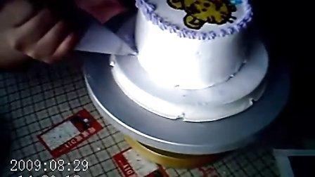 心灵手巧的人和她漂亮的小花  创业加盟连锁 天津甜蜜蜜DIY蛋糕店烘焙工坊顾客作品