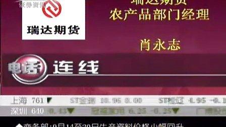 09年9月22日孟一CCTV证券资讯-期货时间