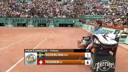 2009 法网 决赛 费德勒vs索德林 part1