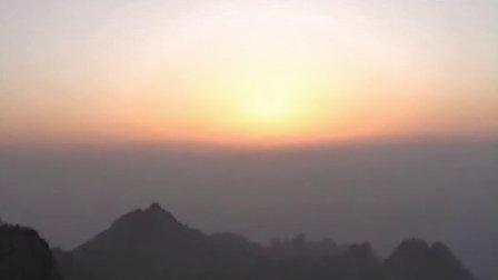 黄山日出全过程(桂花摄于光明顶)