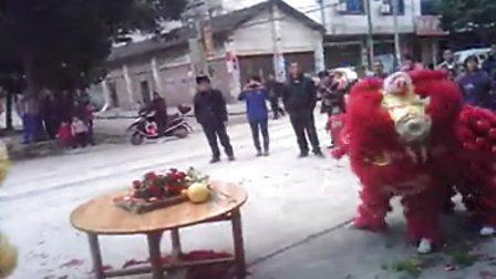 广西贺州市八步区贺街镇新坪村雄威堂醒狮队