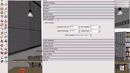 图书馆场景渲染设置和后期处理