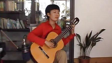 青岛吉他培训古典吉他名师林荣祥的学生视频 阿尔罕布拉宫的回忆