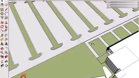 设置场景材质及增设环境配景