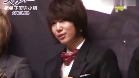 (原來是美男啊拍攝花絮)[APRCLUB]090924--SBS记者发布会[中字]
