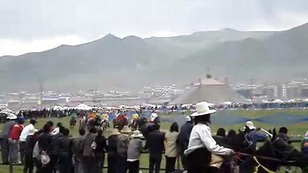 青海省河南蒙古族自治县建县55周年暨那达慕盛会片段
