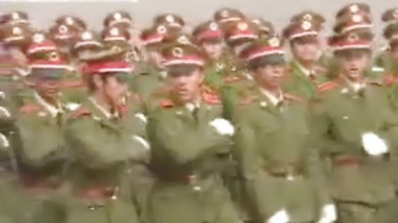 西电06军训--分列式