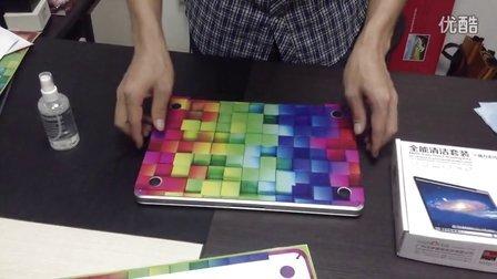 苹果笔记本电脑彩绘底盖贴纸使用方法