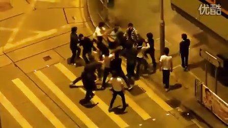 香港北角街頭流氓街斗群毆實錄