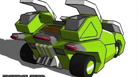 跑跑3D图 变形动画 跑跑版变形金刚