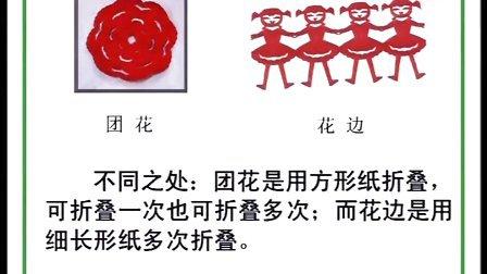 剪纸团花.花边 - 张萍 扬州市平山小学  小学三年级综合实践教学视频
