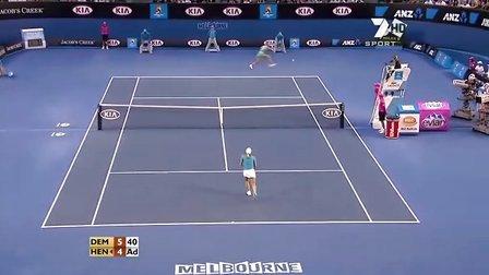 2010澳大利亚网球公开赛女单R2 海宁VS德门蒂耶娃 HL