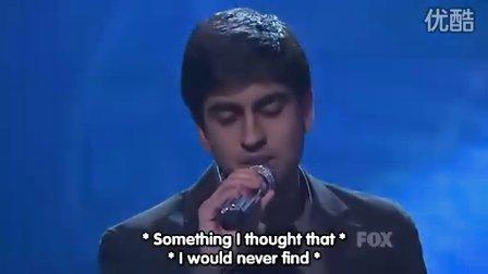 美国偶像第八季[Anoop Desai]最新现场 Angel Of Mine 中字【陈照】