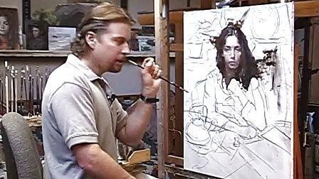大师油画家人物写生视频绘画教程 基础教学素材(4)