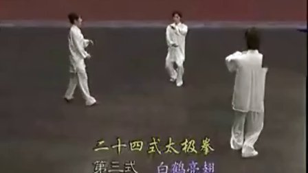 二十四太极拳分解教学3-4 标清