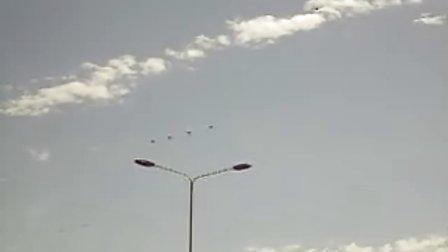 阿福哥国庆节阅兵现场飞机实拍4